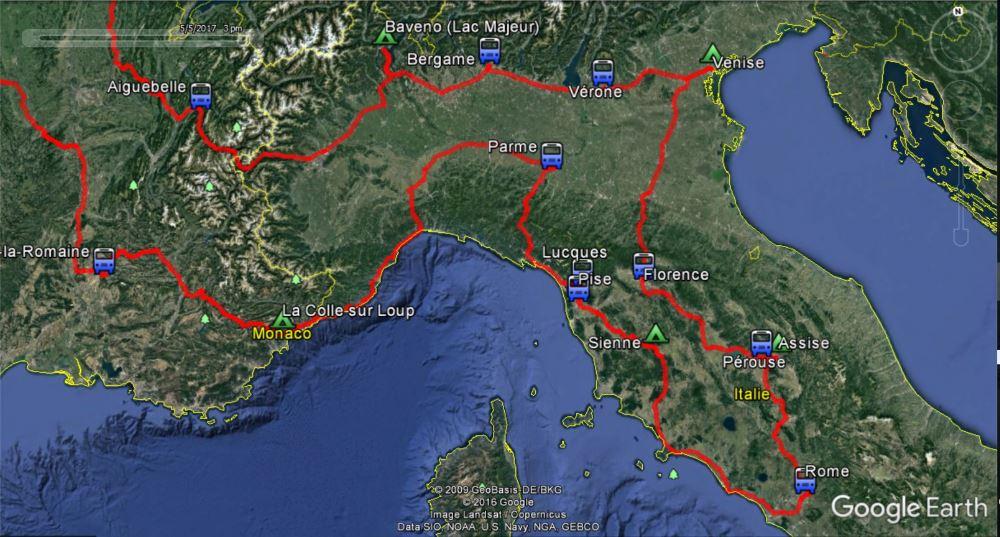 voyage en camping car dans le nord de l 39 italie jusqu 39 rome itin raire et escales pays. Black Bedroom Furniture Sets. Home Design Ideas